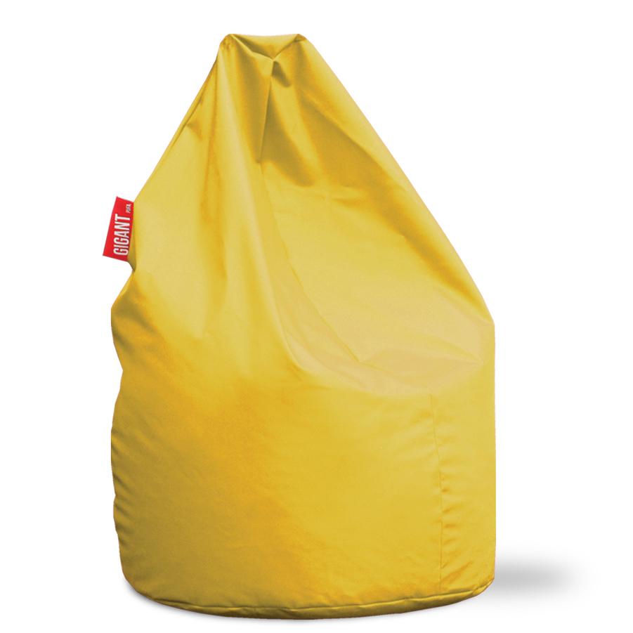 Pufa XL Ekoskóra Żółta